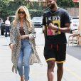 Exclusif - Khloé Kardashian et son compagnon Tristan Thompson sont allés déjeuner en amoureux au restaurant Benihana à Calabasas, le 18 juillet 2018