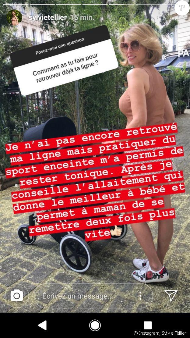 Sylvie Tellier révèle ses astuces pour récupérer la ligne après son accouchement - Instagram, 22 juillet 2018