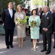 La princesse Maxima des Pays-Bas et son époux avec le couple royal de Suède