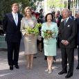La princesse Maxima des Pays-Bas et son époux, la reine Silvia et le roi Carl XVI Gustav