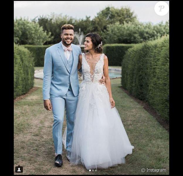 Noura, la femme de Jo-Wilfried Tsonga dévoile des photos de leur mariage sur Instagram le 23 juillet 2018.