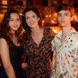 Exclusif - Caroline Barclay et ses enfants, Clara et Vincent - Traditionnelle soirée d'anniversaire du Byblos sur le thème de la Dolce Vita à Saint-Tropez, le 19 juillet 2018. © Rachid Bellak / Bestimage