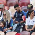 Camille Tytgat et son fils Ruben - People au stade Loujniki lors de la finale de la Coupe du Monde de Football 2018 à Moscou, opposant la France à la Croatie à Moscou le 15 juillet 2018 © Cyril Moreau/Bestimage