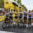 Geraint Thomas et sa team (GBR-Sky) - Arrivée de la 21ème et dernière étape (Houilles - Paris Champs-Elysées) de la 105ème édition du Tour de France sur les Champs-Elysées à Paris le 29 juillet 2018. © Pierre Perusseau/Bestimage