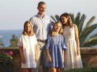 Letizia et Felipe d'Espagne : Photos au soleil couchant avec Leonor et Sofia