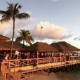 Le Basil's Bar sur l'île Moustique au coucher du soleil, le 30 juillet 2018. Photo Instagram.