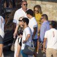 Tiffany Trump, la plus jeune fille de l'actuel président des États-Unis Donald Trump, en vacances à l'île de Mykonos en Grèce le 31 juillet 2018.