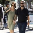 Jack Osbourne et Lisa Stelly. Octobre 2017.