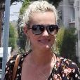 """Semi-exclusif - Laeticia Hallyday se rend chez le coiffeur au salon """"Mèche"""" à Beverly Hills le 21 juin 2018."""