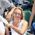 Estelle Lefébure - People dans les tribunes des Internationaux de France de Tennis de Roland Garros à Paris. Le 8 juin 2018 © Cyril Moreau / Bestimage