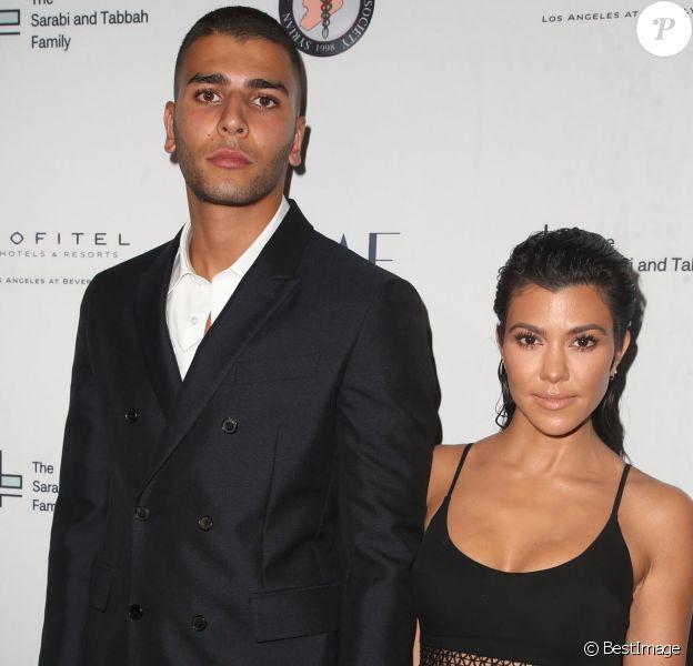 Younes Bendjima et sa compagne Kourtney Kardashian à la soirée caritative The Syrian American Medical Society à l'hôtel The Sofitel à Los Angeles, le 4 mai 2018
