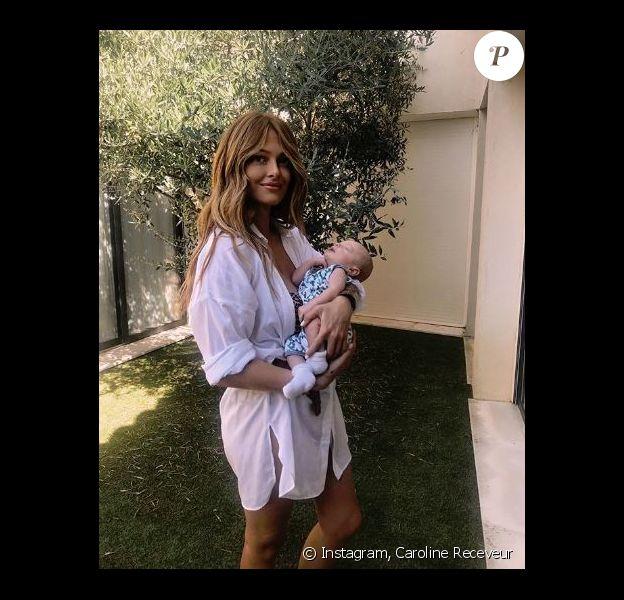 Caroline Receveur et son fils Marlon à Saint-Tropez - Instagram, 7 août 2018