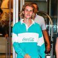 Justin Bieber à la sortie de son hôtel à New York, le 9 août 2018