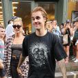 Hailey Baldwin et son fiancé Justin Bieber à New York, le 8 août 2018