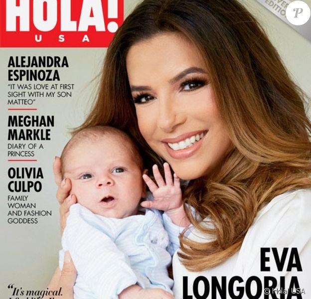 Eva Longoria avec son fils Santiago en couverture d'un numéro spécial de Hola! USA (août 2018)