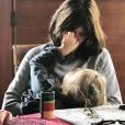 Carla Bruni entourée de ses enfants, Aurélien et Giulia, sur Instagram le 5 janvier 2018.