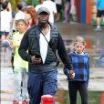 """Exclusif - Seal emmène ses enfants Leni, Henry, Lou et Johan dans le parc d'attraction """"Luna Park"""" à Sydney en Australie le 3 janvier 2016"""