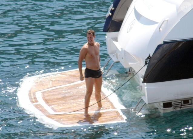 Michael Schumacher en vacances à Majorque en août 2007.