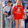 Exclusif - Sophie Turner et son fiancé Joe Jonas dans les rues de New York, le 15 août 2018
