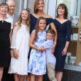 Jennifer Garner avec ses enfants Samuel, Violet et Seraphina - L'actrice reçoit son étoile sur le Walk Of Fame à Hollywood, Los Angeles, le 20 août 2018.