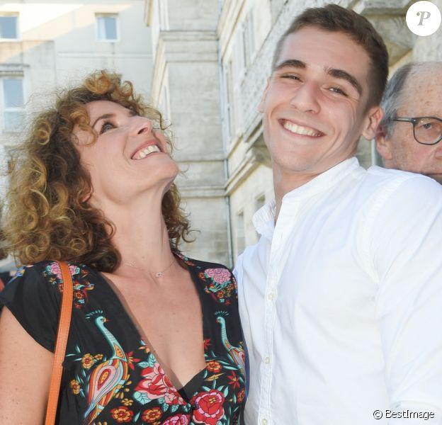 Elsa Lunghini et son fils Luigi Kröner lors du premier jour de la 11ème édition du festival du Film Francophone d'Angoulême, France, le 21 août 2018. © Coadic Guirec/Bestimage