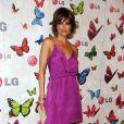 Lisa Rinna, une fleur violette délicate pour une fois - Soirée LG Rumorous Night à Hollywood le 28 avril 2009