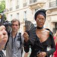"""Naomi Campbell à son arrivée au défilé de mode Haute-Couture automne-hiver 2018/2019 """"Jean Paul Gaultier"""" à Paris. Le 4 juillet 2018"""