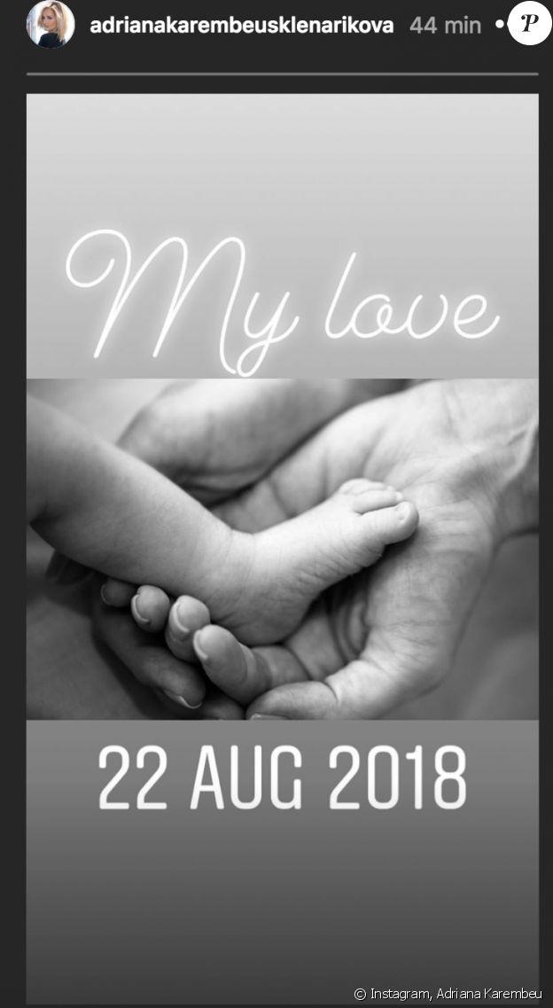 Adriana Karembeu dévoile une première photo de sa fille Nina, née le 22 aout 2018 - Instagram, 25 août 2018