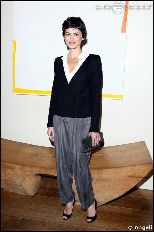 Audrey Tautou lors de la première à Londres du film Coco avant chanel le 28 avril 2009