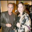 Yves Lecoq et Nathalie Garçon lors de la soirée Tod's organisée le 28 avril 2009, rue du Faubourg St Honoré