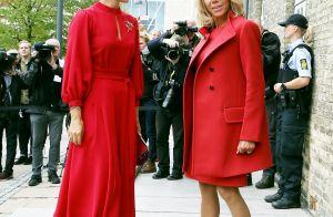 Brigitte Macron et la princesse Mary de Danemark : Un tandem stylé rouge passion