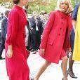 Brigitte Macron et la princesse Mary de Danemark lors de leur visite à l'Académie royale danoise des beaux-arts (Ecole de design) à Copenhague le 28 août 2018 dans le cadre de la visite d'Etat du couple présidentiel français au Danemark. © Dominique Jacovides / Bestimage