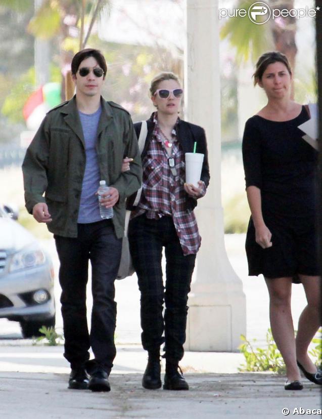 Drew Barrymore et Justin Long à Los Angeles. 29/04/09
