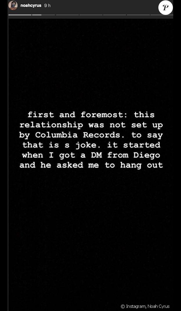 Noah Cyrus se défend d'avoir trompé son petit ami Lil Xan. Le 3 septembre 2018.