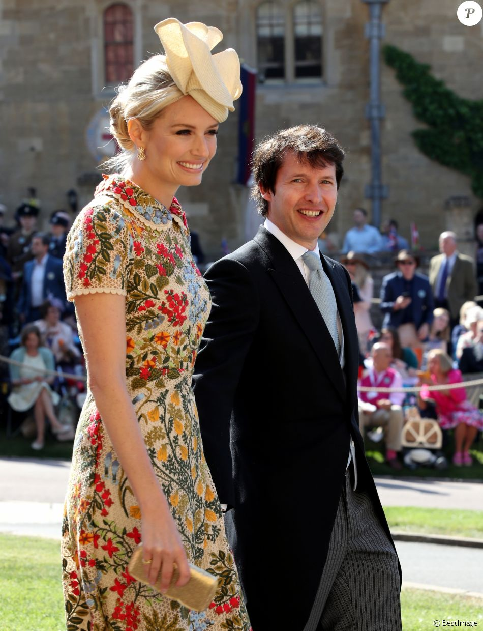 James Blunt et Sofia Wellesley (boucles d\u0027oreilles Cartier