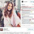 Capture d'écran de la photo Instagram pour laquelle Miss Belgique 2017 est accusée de racisme.