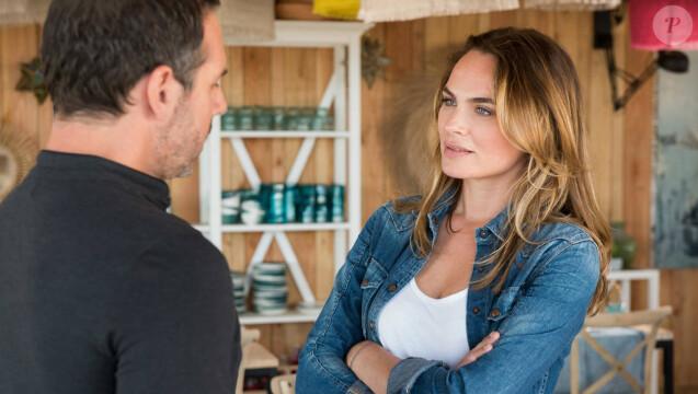 """Jeremy Banster et Mélanie Maudran dans  """"Un si grand soleil"""" (France 2)."""