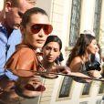 Bella Hadid - Les célébrités à l'arrivée au défilé Tod's lors de la fashion week printemps-été 2019 à Milan le 21 septembre 2018.