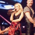 """Kylie Minogue sur scène à Newcastle pour le lancement du """"Golden Tour"""", le 18 septembre 2018."""