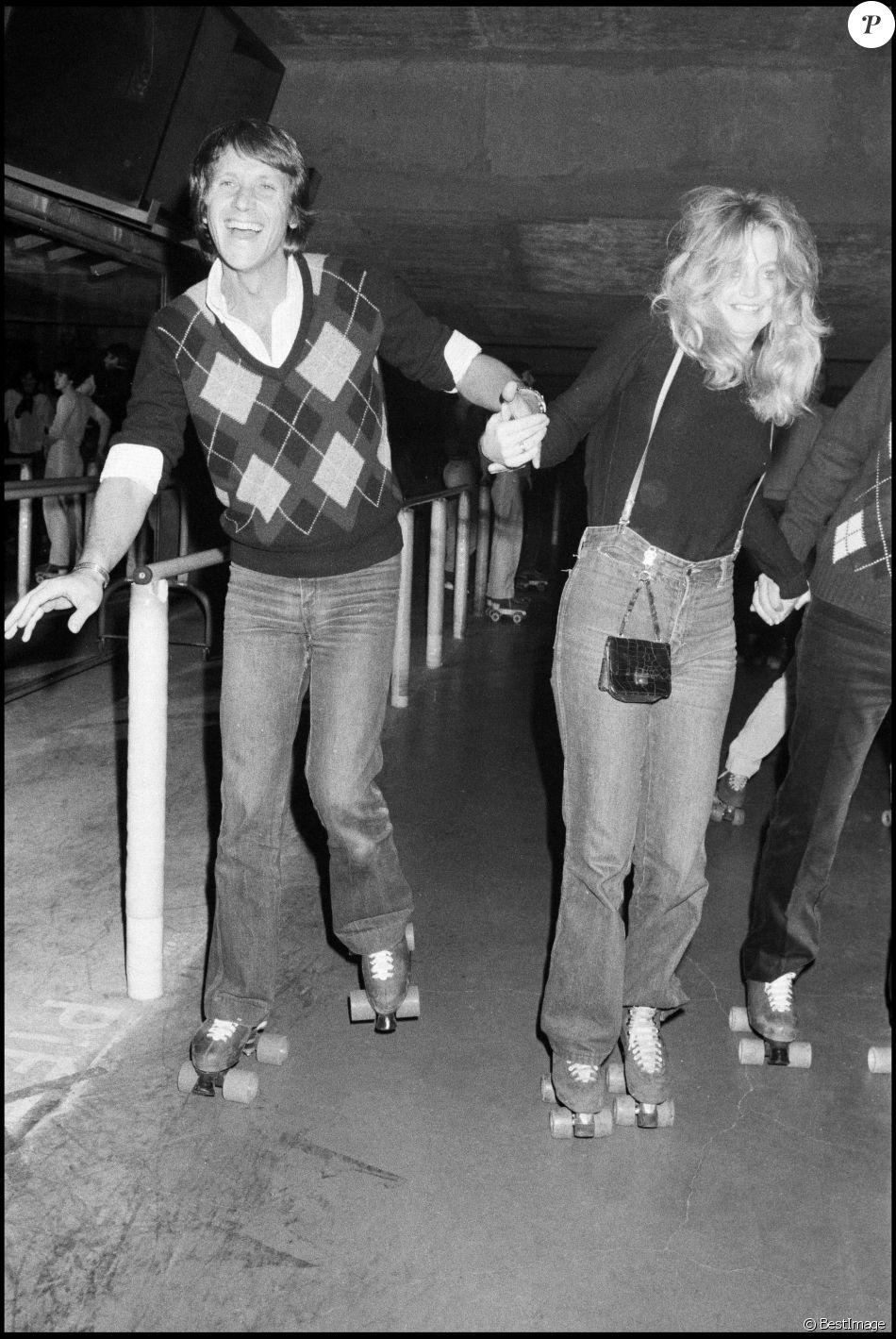 Yves Rénier et Goldie Hawn à Paris, le 17 mars 1980.