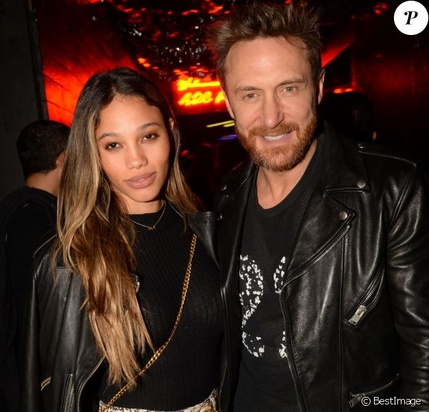 "Exclusif - David Guetta et sa compagne Jessica Ledon - People au club ""L'Arc"" à Paris le 26 septembre 2018. © Rachid Bellak / Bestimage"