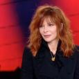 Mylène Farmer invitée d'Anne-Claire Coudray pour le JT de TF1, dimanche 30 septembre 2018.