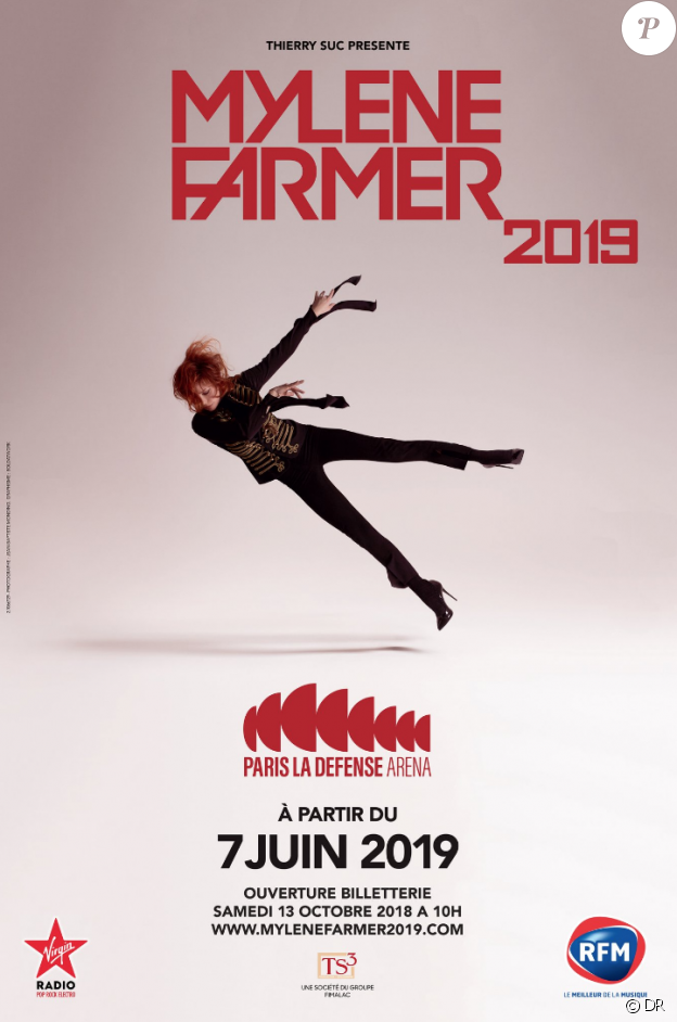 Mylène Farmer en concert à Paris La Défense Arena à partir du 7 juin 2019.