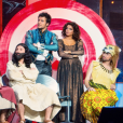 """La troupe des Enfoirés à l'occasion du spectacle """"Musique !"""" joué à Strasbourg en janvier 2018."""