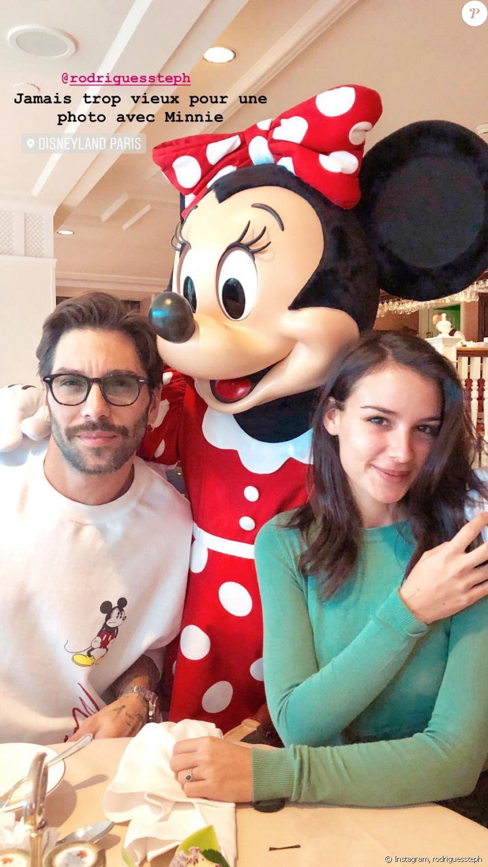 Jade Leboeuf et son mari Stéphane à Disneyland, les 6 et 7 octobre 2018.