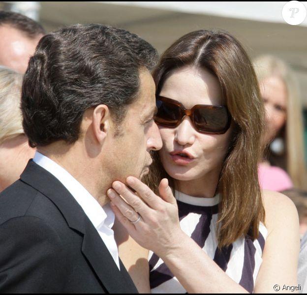 Nicolas Sarkozy et Carla Bruni au Cap Nègre