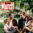 """Marc-Olivier Fogiel en couverture de """"Paris Match"""" avec son mari et leurs deux filles"""
