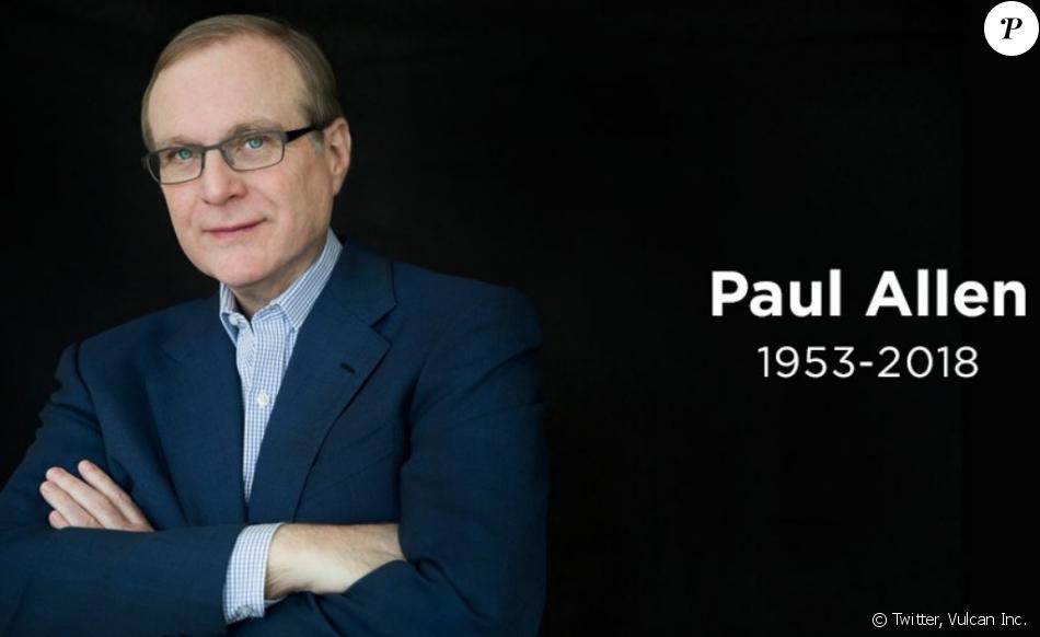 Annonce de la mort de Paul Allen par son entreprise Vulcan sur Twitter, le 15 octobre 2018.