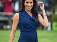 Meghan Markle enceinte : Son baby bump se dessine sous une robe marine