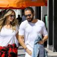 Exclusif - Heidi Klum et son compagnon Tom Kaulitz sont allés déjeuner en amoureux au restaurant Il Pastaio à Beverly Hills. Le 1er octobre 2018.